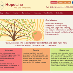 Hire Genevieve Herres - Portfolio - Website Redesign for Hopeline, Inc of NC