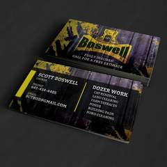 Hire Grant Darrah - Portfolio - Boswell Construction Business Cards