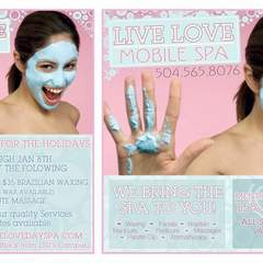 Hire Mary Seale - Portfolio - Print Advertising Design: Live Love Spa