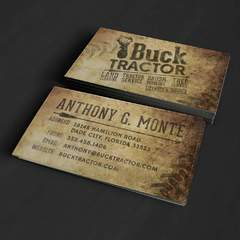 Hire Grant Darrah - Portfolio - Buck Tractor Business Cards