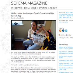 Hire Sara Goldie - Portfolio - Schema Magazine Daily Dose Article