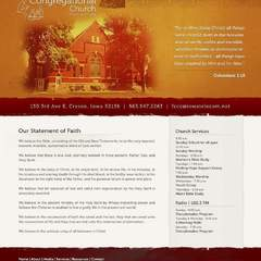 Hire Grant Darrah - Portfolio - First Congregational Church Website