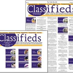 Hire Mary Seale - Portfolio - Layout Design: LSU Student Media Classifieds