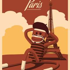 Hire Thomas Johnson - Portfolio - Sock Monkey Travel Posters