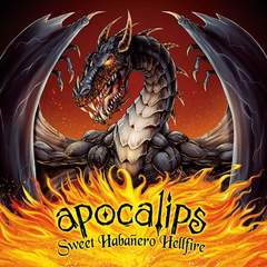 Hire Brian Allen - Portfolio - Apocalips Hot Sauce packaging illustration