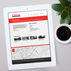 Hire Marie-France Caron - Portfolio - Wordpress theme (integration)