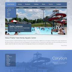 Hire Grant Darrah - Portfolio - City of Corydon Aquatic Center Website
