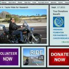 Hire Vicki Farrington - Portfolio - John's Ride Benefit Website