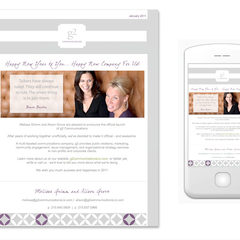 Hire Stacey Meacham - Portfolio - Eblast and mobile version for grimm & grove