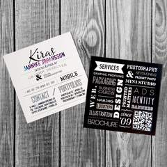Hire Jannike Johansson - Portfolio - Kiras business cards