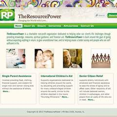 Hire Genevieve Herres - Portfolio - Visual Redesign of TheResourcePower
