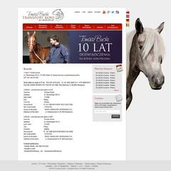Hire Marta Sobczak - Portfolio - Horsetransport web site