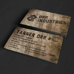 Hire Grant Darrah - Portfolio - Orr Industries Business Cards
