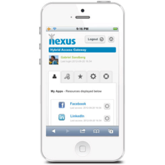 Hire Gabriel Sandberg - Portfolio - Single sign-on app for Nexus