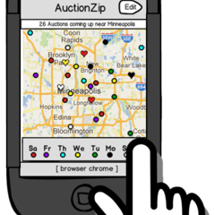 Hire John Boykin - Portfolio - Prototype of my design for AuctionZip mobile site