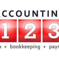 Hire Michelle E - Portfolio - Accounting 123 Logo