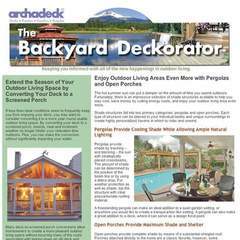 Hire Kyle Sox - Portfolio - Archadeck Email Newsletter