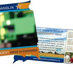 Hire Carmen Gilotte - Portfolio - Campaign handout for Stephanie Herseth Sandlin