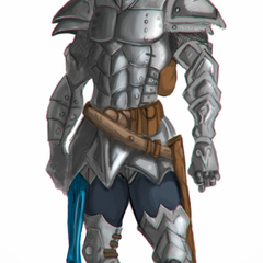 Hire Harold Rodriguez A. - Portfolio - Armored warrior concept art.