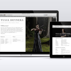 Hire Sebastian Hartmann - Portfolio - Website for Yulia Deyneka
