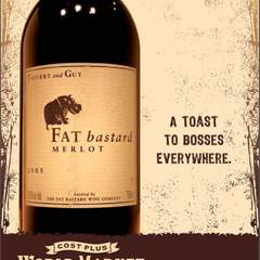 Hire David Ayscue III - Portfolio - World Market - POS Wine Poster - Fat Bastard
