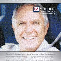 Hire Rob Kreger - Portfolio - USA Mitchell Cancer Institute Print Ad