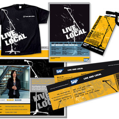Hire Tracy James - Portfolio - SAP Live and Local Brand Identity