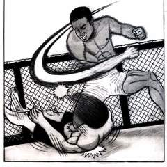 Hire Sophocles Plokamakis - Portfolio - Renzo Gracie MMA Manga Illustration