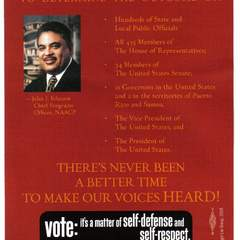Hire mariam khan - Portfolio - Election Campaign Mailers for NAACP - B Side