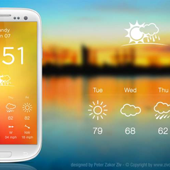 Hire Ziv Peter Zakor - Portfolio - Weather app for Android