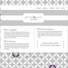 Hire Stacey Meacham - Portfolio - grimm & grove website design