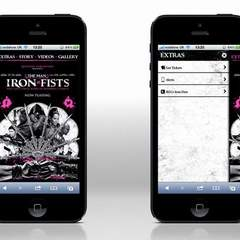 Hire Kel Corbett - Portfolio - The Man With The Iron Fists smartphone website