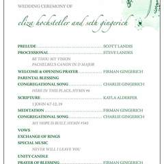 Hire Hannah Grieser - Portfolio - Wedding program