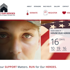 Hire Stacey Meacham - Portfolio - House our Heroes landing page