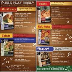 Hire Mary Seale - Portfolio - Menu Design: Oscar's Pizza Joint