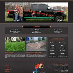 Hire Grant Darrah - Portfolio - Clark Lawn Care Website