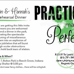 Hire Jonah Alvarez - Portfolio - Rehearsal Dinner Invitation