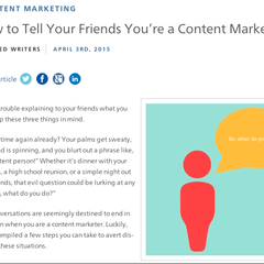 Hire Brianna Johnson - Portfolio - How to Tell Your Friends You're a Content Marketer